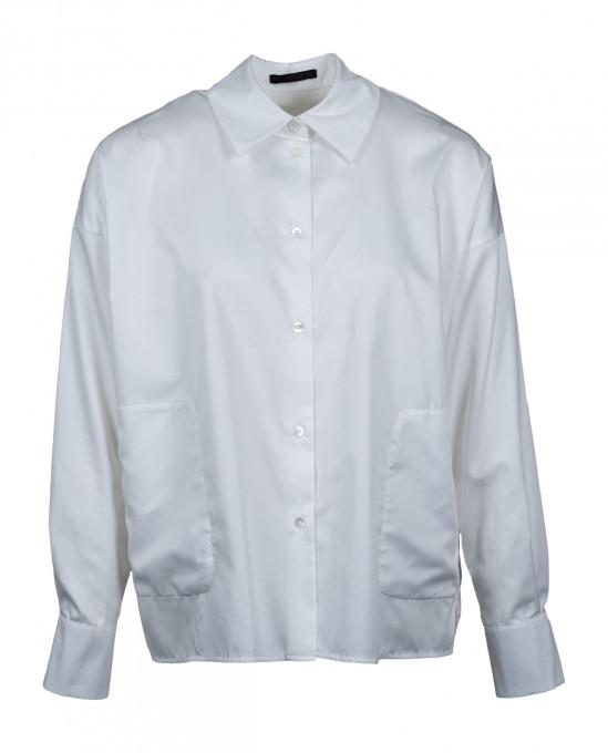 Drykorn Damen Bluse Cloelia mit Kentkragen weiß