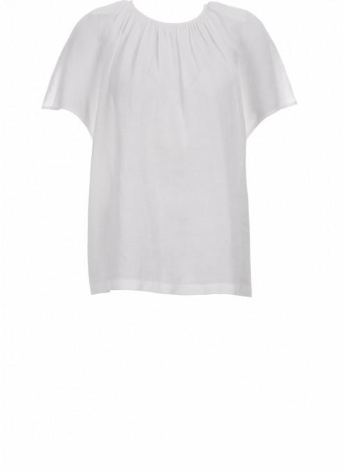 Drykorn Halbarm-Bluse Lani weiß
