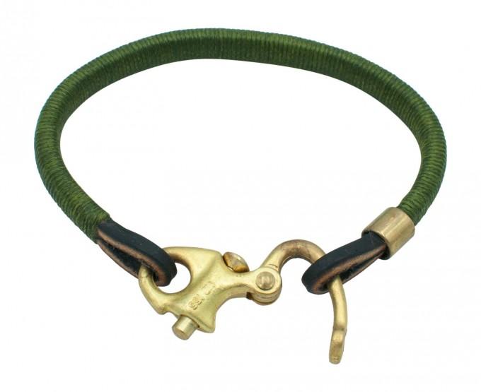 EmmaOpitz Lederlinge Armband Blumenthal Noir vintage grün