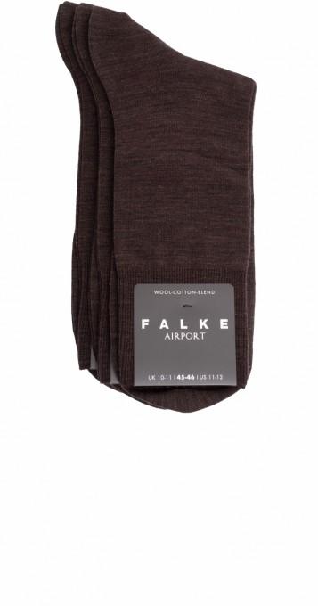 Falke Herren Socken Airport 3er Pack braun