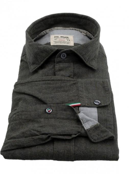 Fil Noir Herrenhemd 51378 bottle green