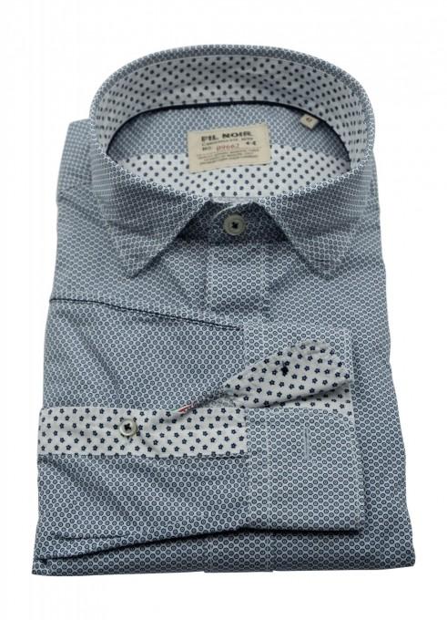 Fil Noir Herrenhemd aus Baumwolle marina blau