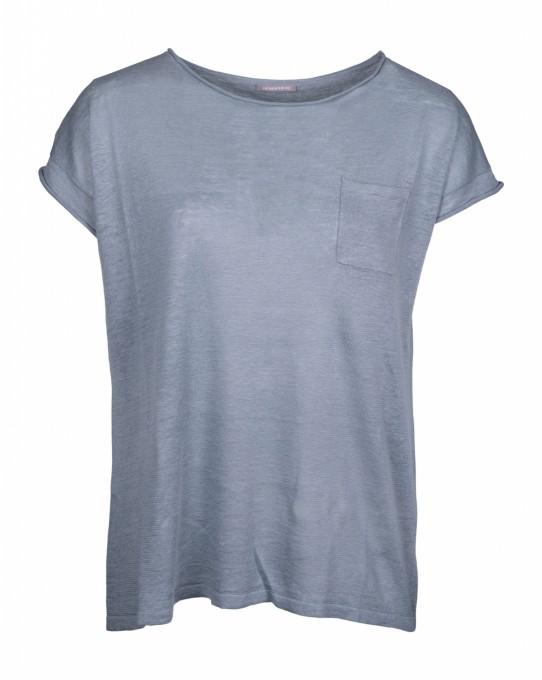 Hemisphere Damen Halbarm Pullover Thistle blau