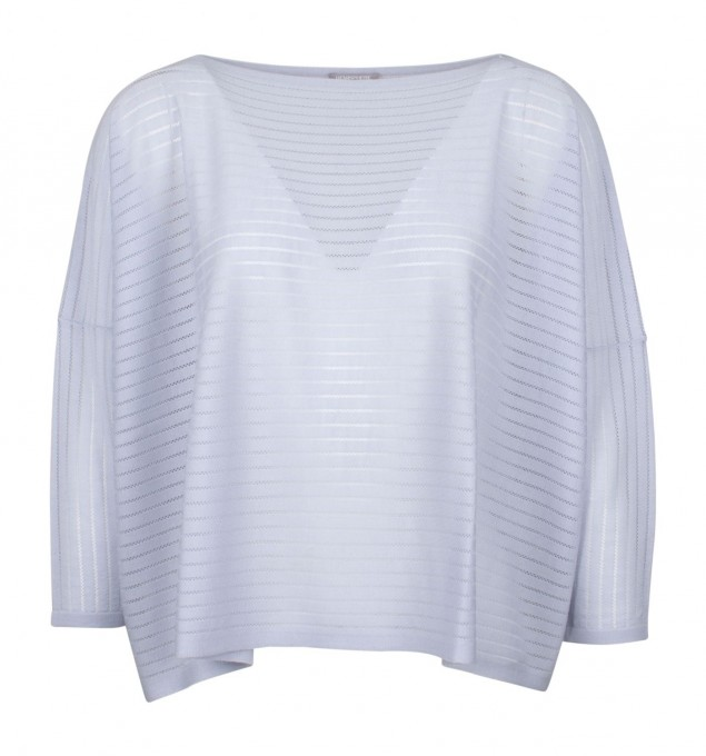 Hemisphere Damen Pullover aus Wolle grau