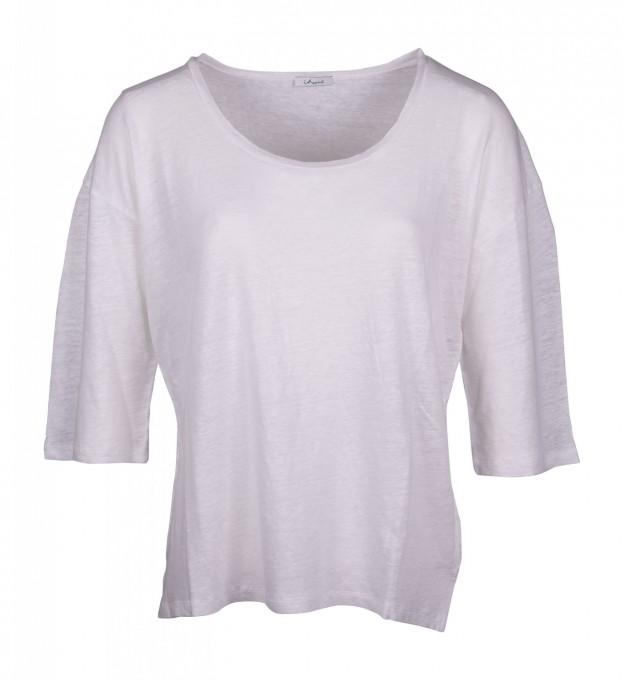 Iheart Damen Leinen-Shirt Ekaterina weiß
