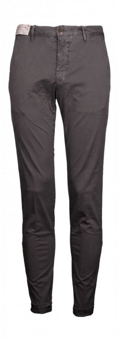incotex Herren Chino Slim Fit grau