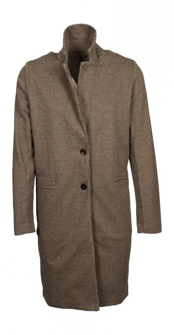 Majestic Damen-Mantel aus Baumwolle camel