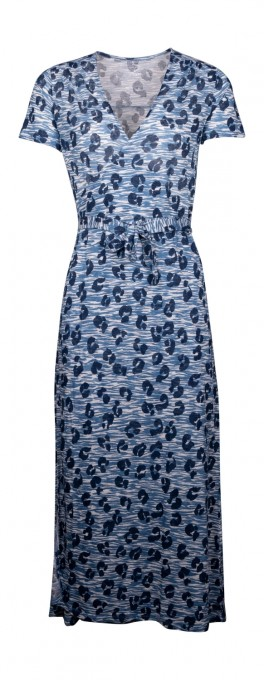 Majestic Kleid aus Leinen blau notte