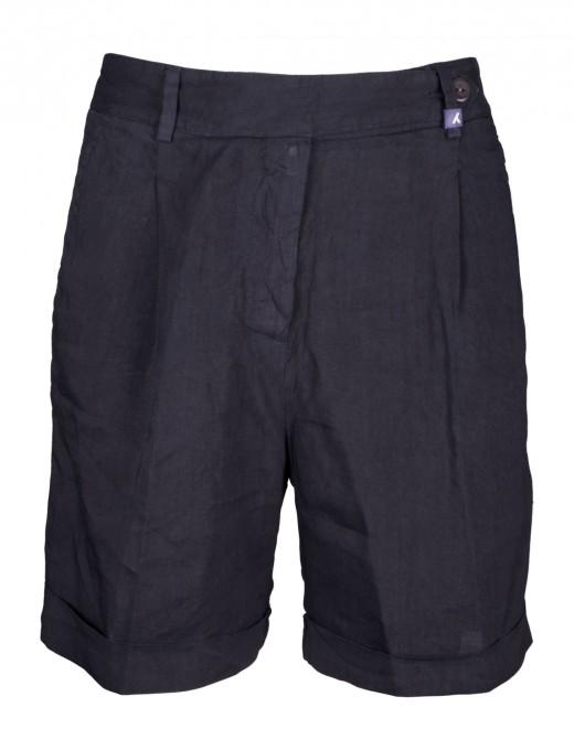 myths Damen Leinen-Shorts navyblau