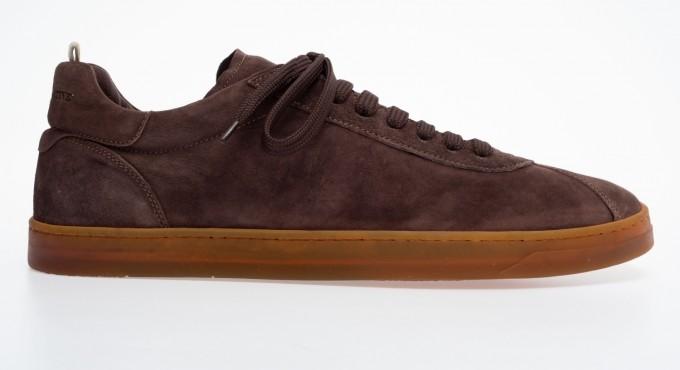 officine creative Herren Sneaker Karma chocolate braun
