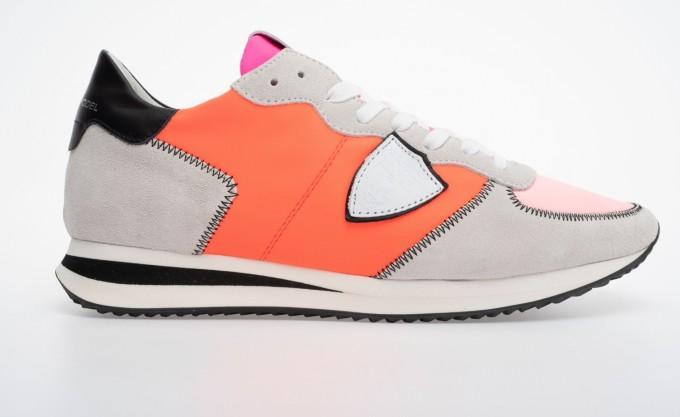 Philippe Model Damen Sneaker TZLD pink/orange