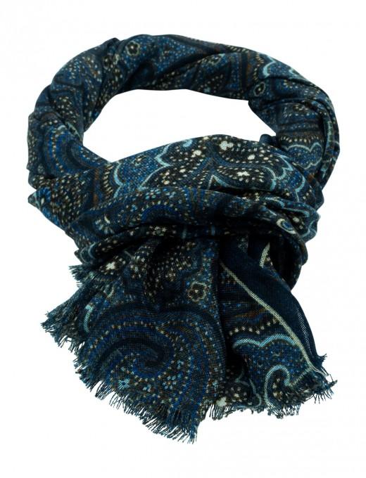 Rosi Collection Kaschmir-Schal Nubia blau