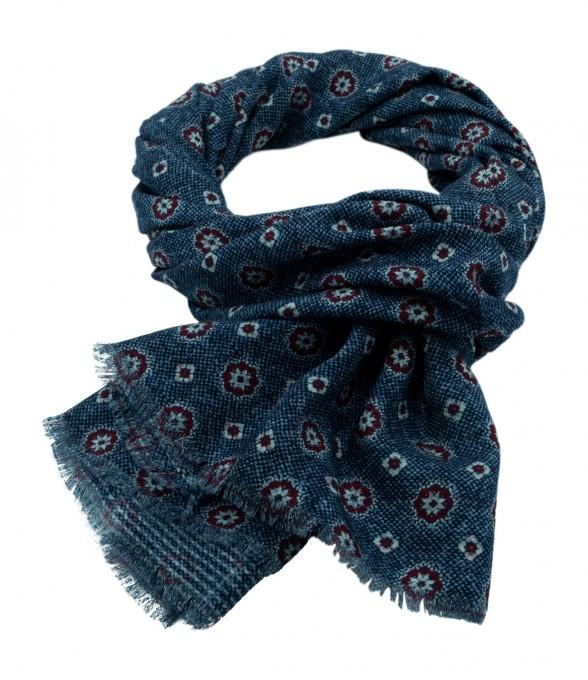 Rosi Collection Woll-Schal Bormio blau