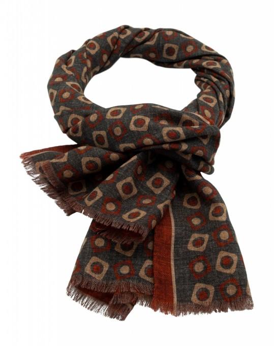 Rosi Collection Woll-Schal Bormio rostbraun