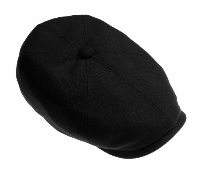Stetson Herren Flatcap Hatteras schwarz