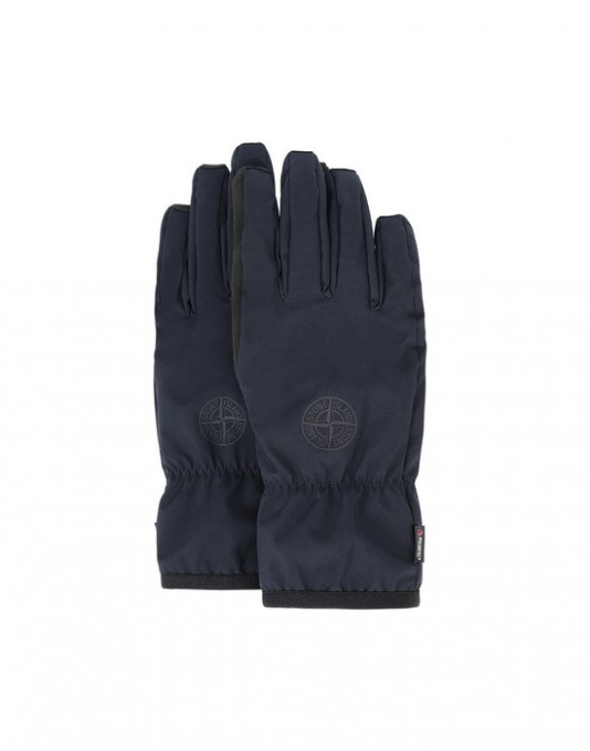 Stone Island Handschuhe 92429 aus Soft-Shell-R blau