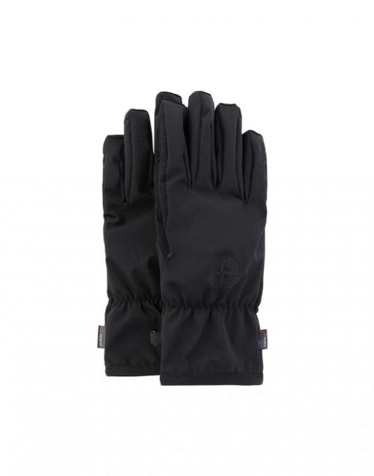 Stone Island Handschuhe 92429 aus Soft-Shell-R schwarz