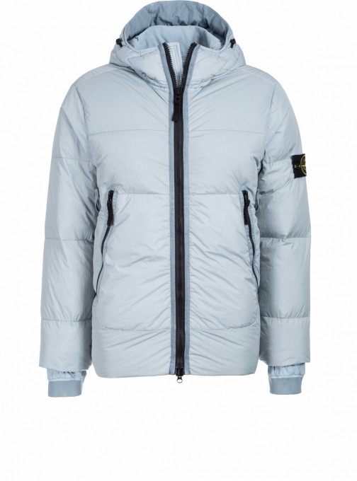 Stone Island Herren Daunenjacke 40123 Garment Dyed Crinkle Reps blaugrau