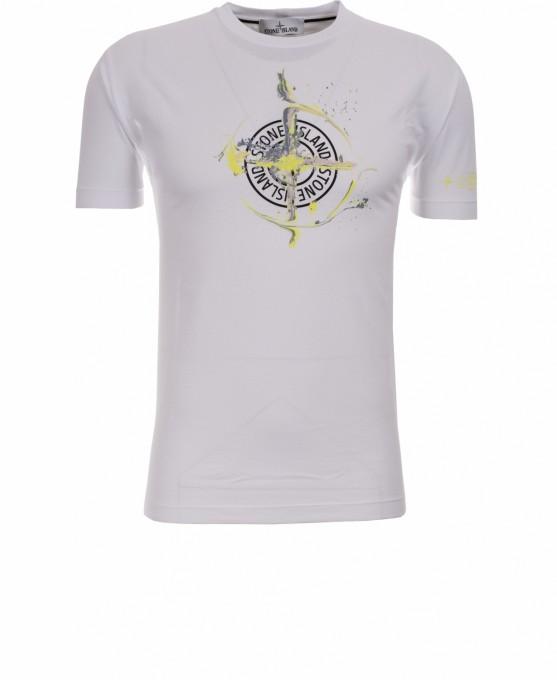 Stone Island Herren T-Shirt 2NS83 Graphic One weiß