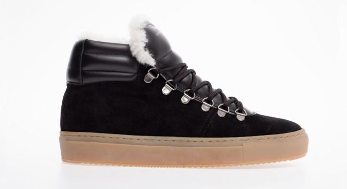 Zespà Damen Sneaker ZSP2 Suede Lining Shearling Black